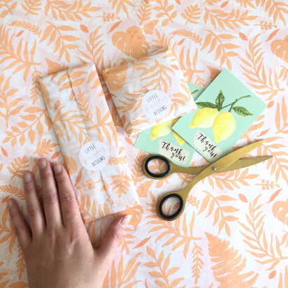 Recyclable Packaging Methods with Little Paisley Designs