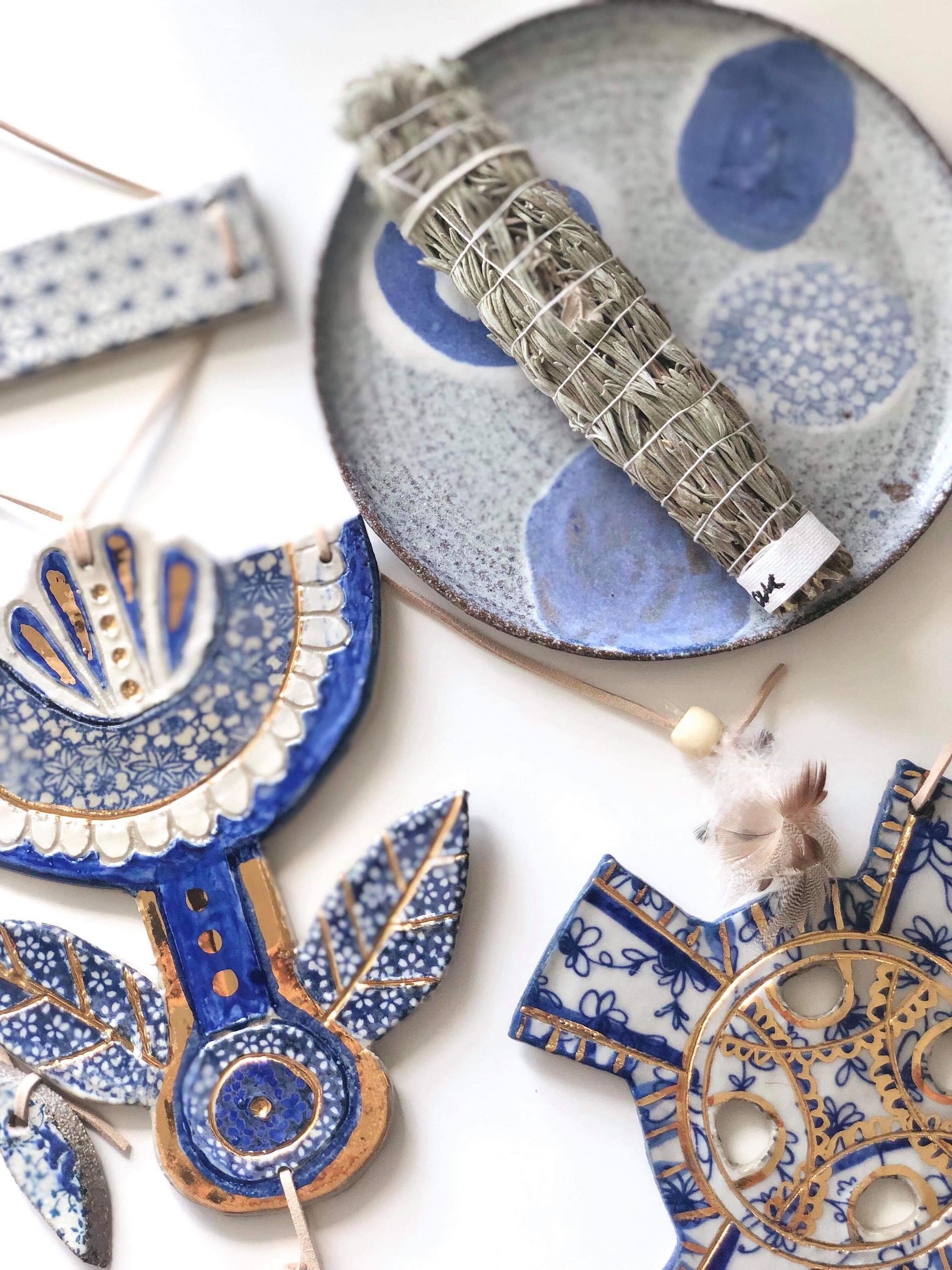 Close-up of Carys Martin Ceramics pieces