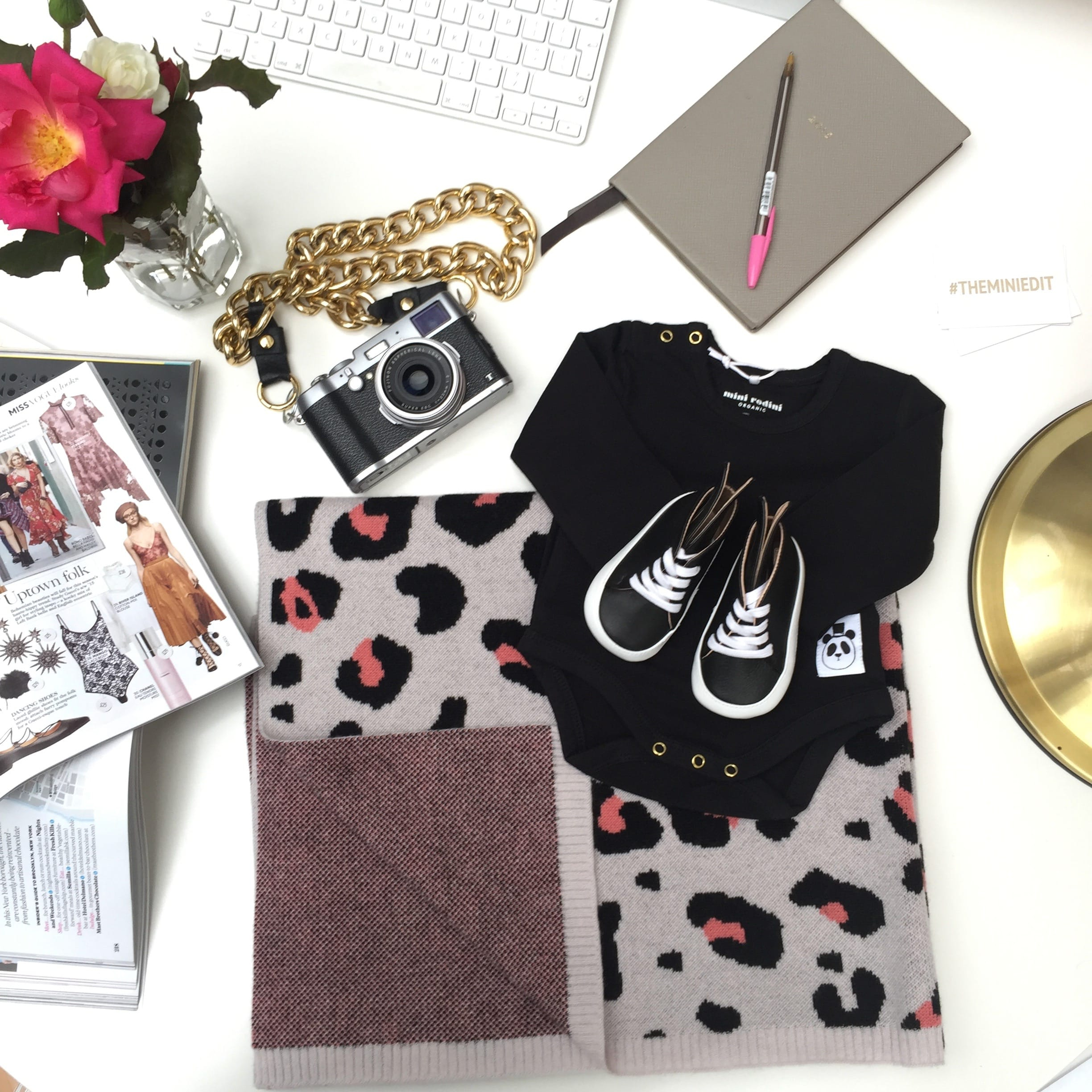 The Mini Edit clothing and accessories flatlay