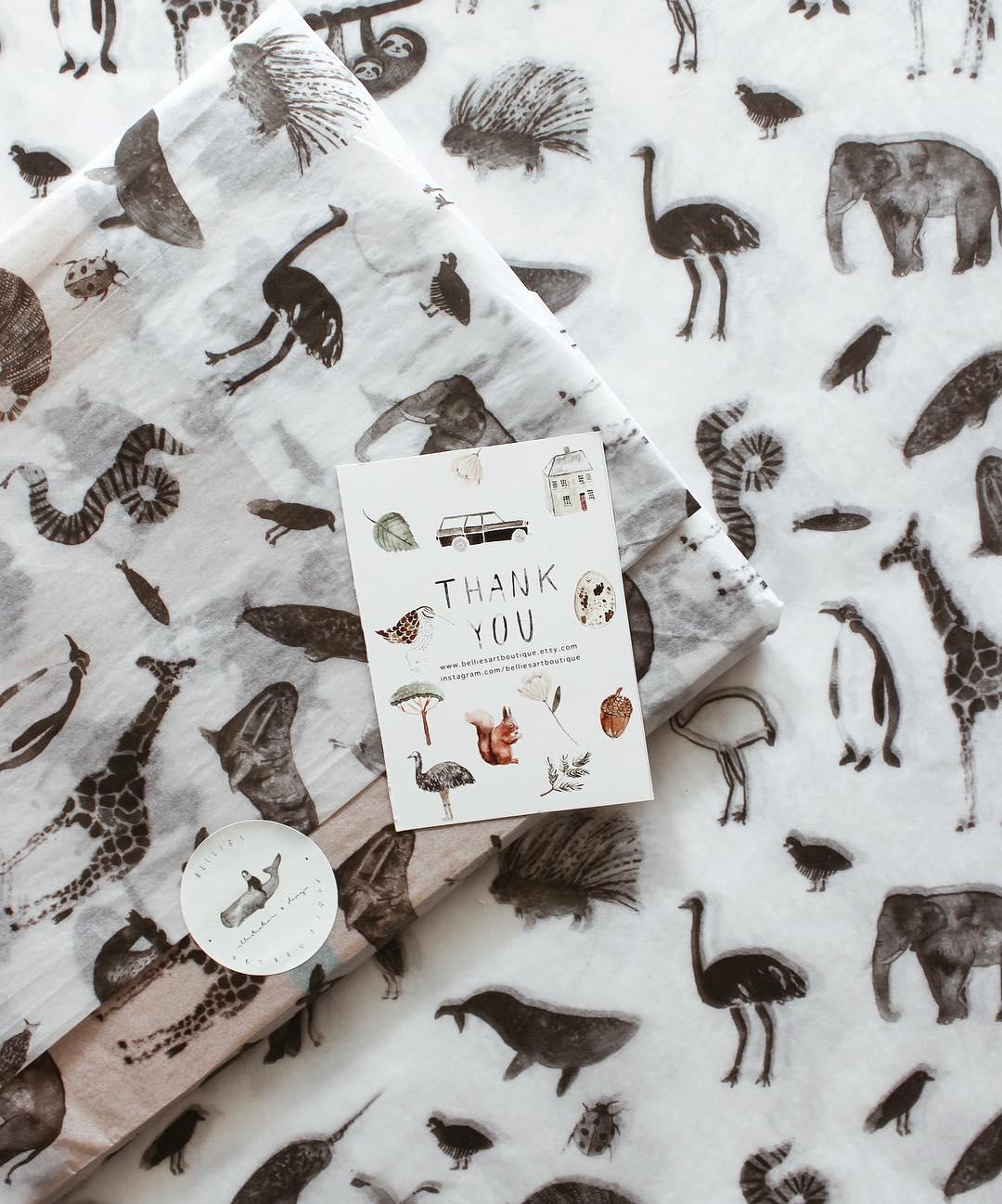 Bellies Art boutique custom tissue paper design