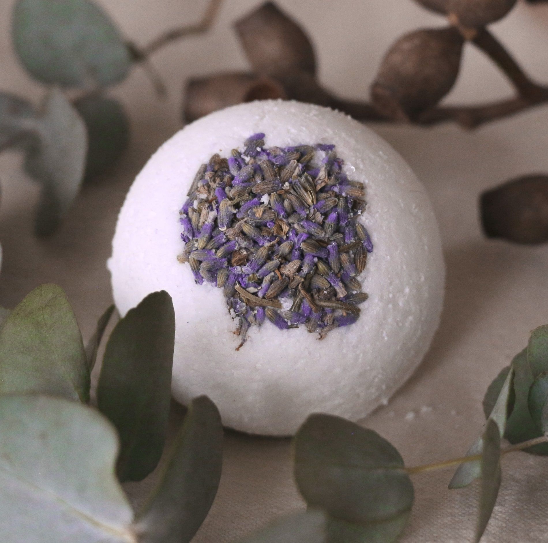 Close-up of bath bomb