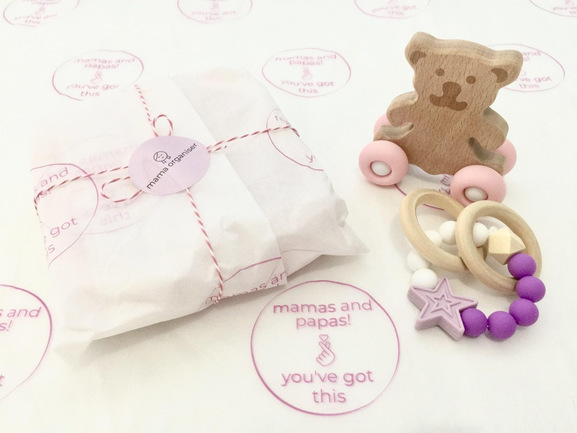 mama Organiser custom tissue paper