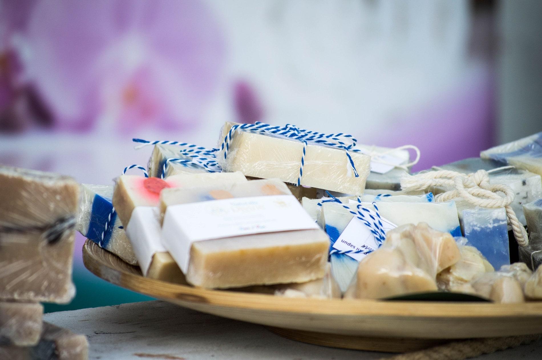 Close-up of handmade soap