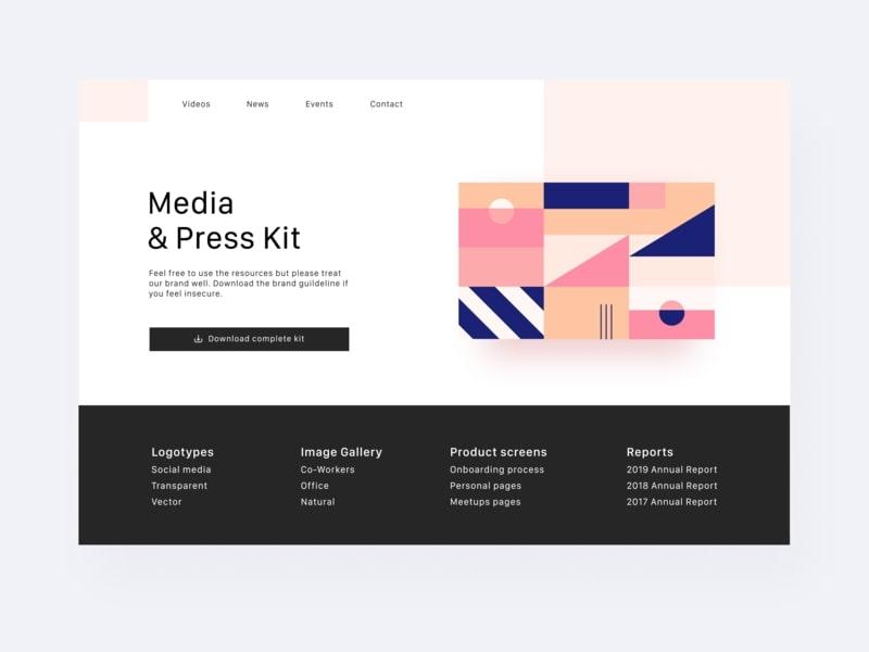Media and Press Kit webpage
