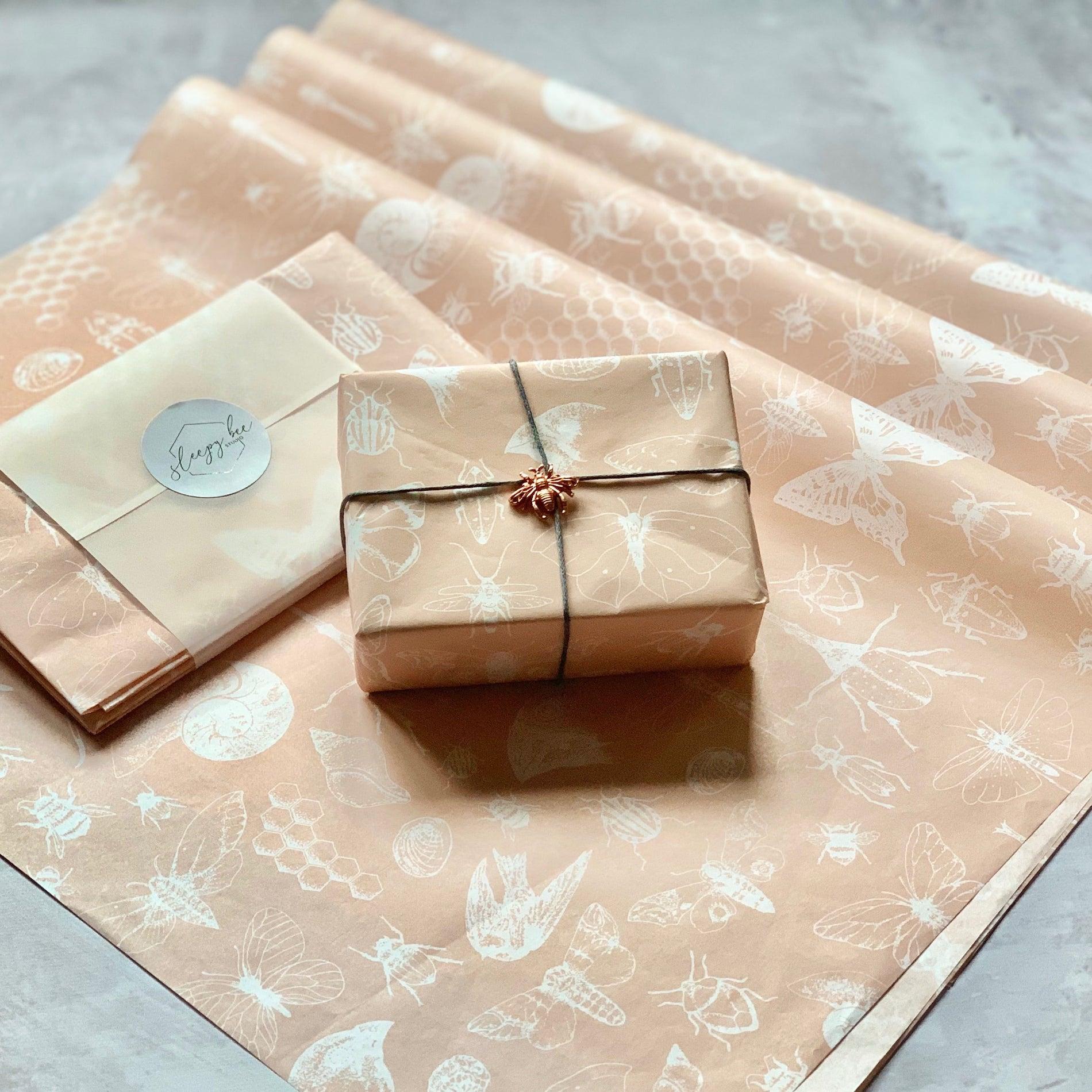 Sleepy Bee Studio Darwin custom tissue paper design