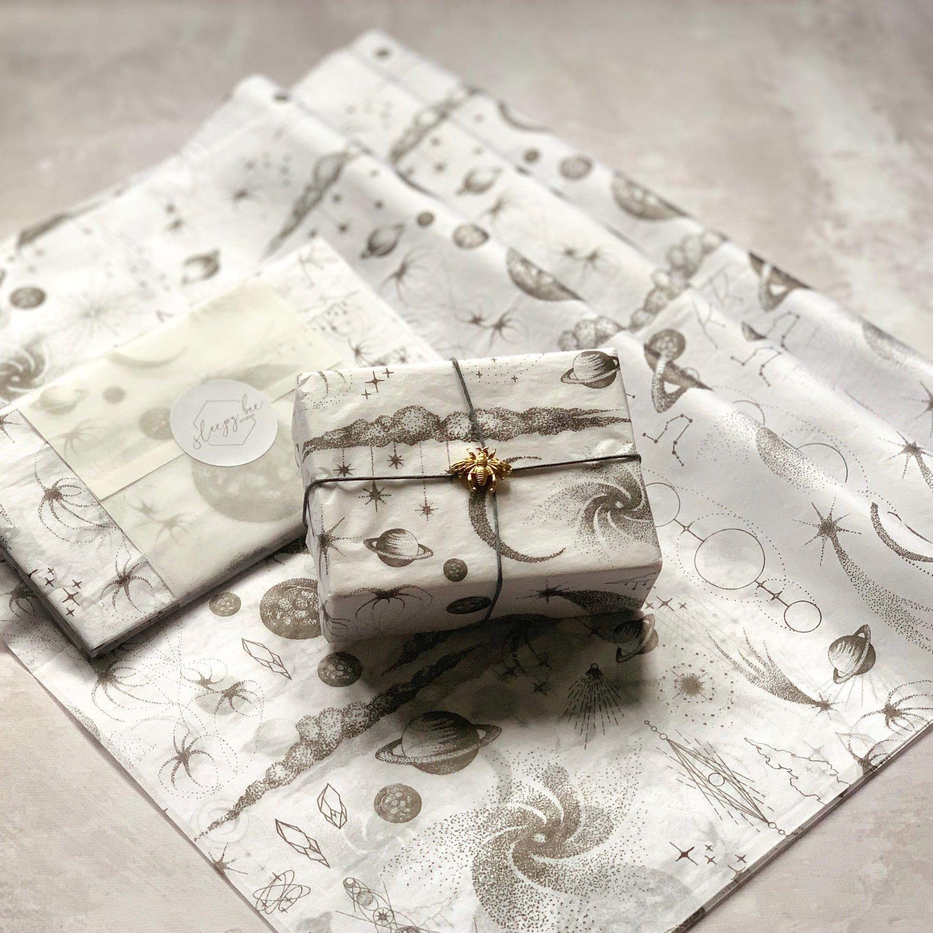 Sleepy Bee Studio Stargazer custom tissue paper design