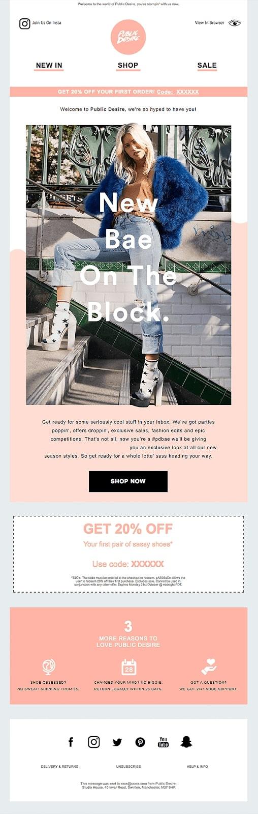 Public Desire promotional email