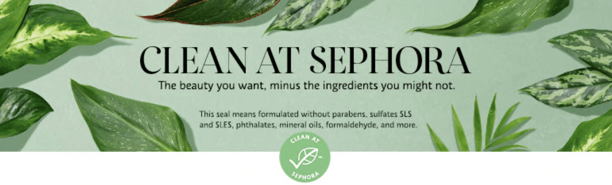 Sephora 'Clean Beauty' label