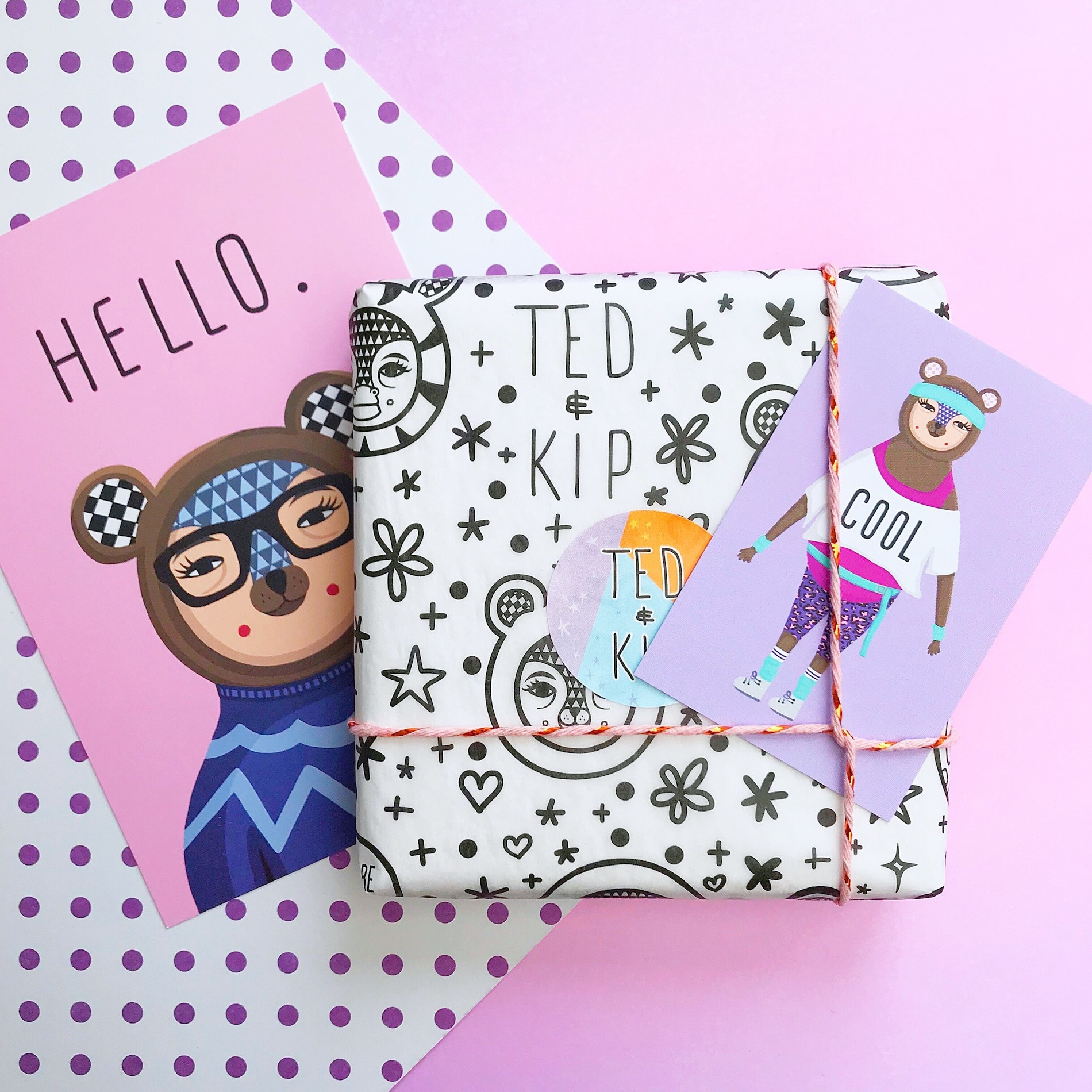 Ted & Kip custom tissue paper parcel