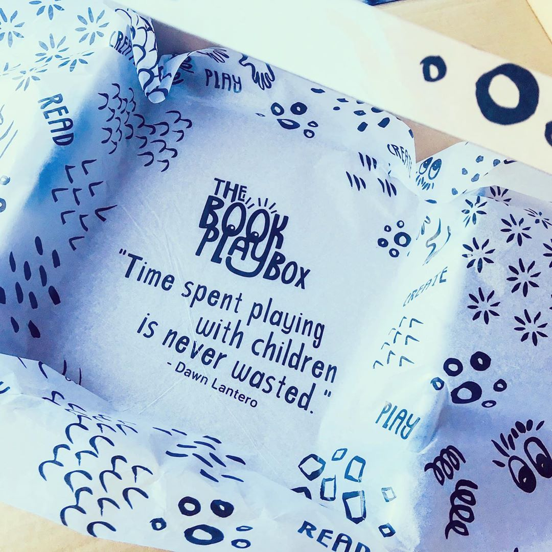 custom tissue paper by The Book Playbox