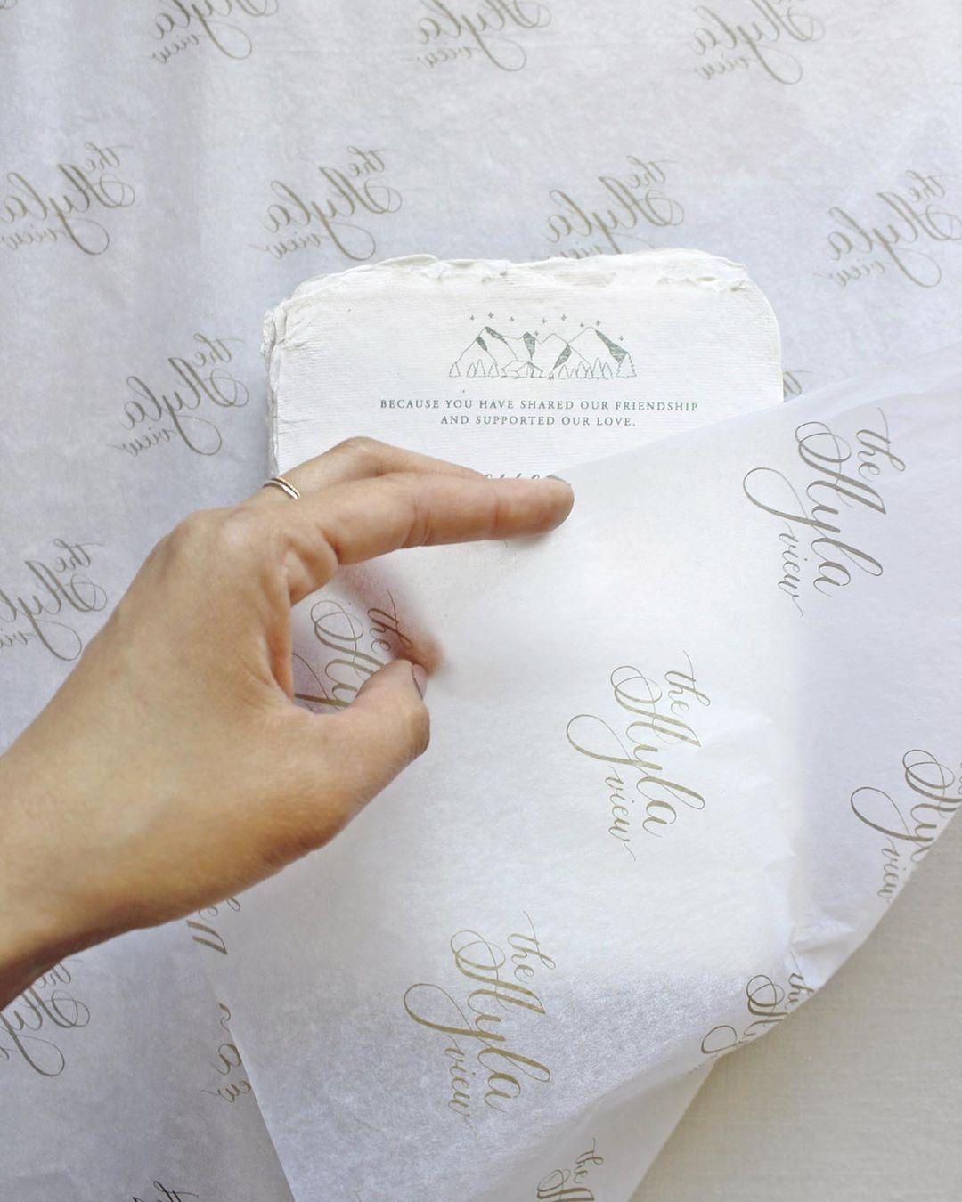 White branded tissue paper
